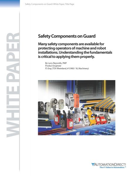 "AutomationDirect releases ""Safety Components on Guard"" white paper"