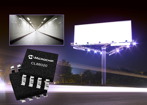 Microchip Technology introduces CL88020 LED driver