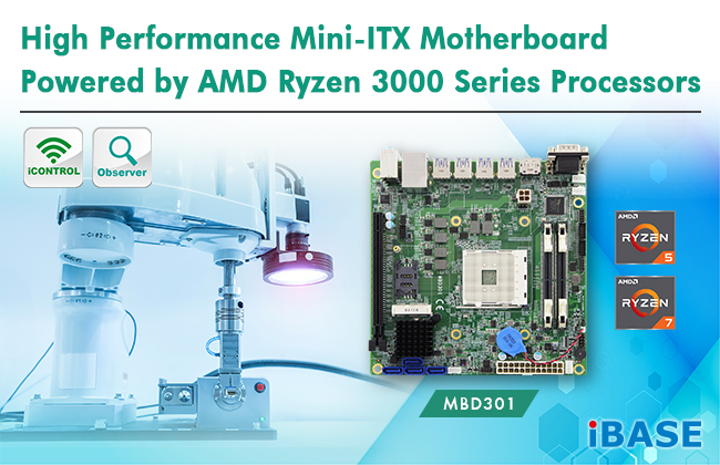IBASE introduces MBD301 Mini-ITX motherboard