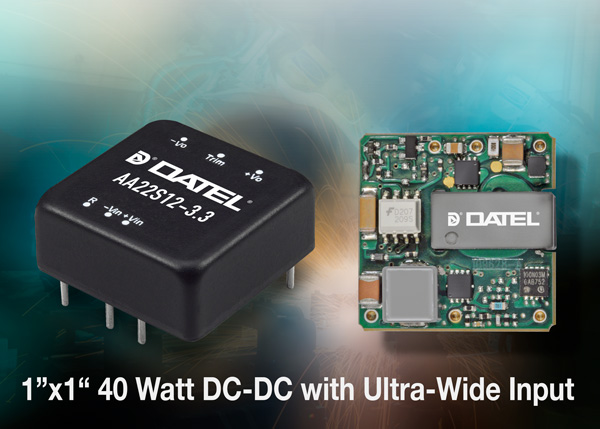 DATEL introduces AA series of DC-DC converters