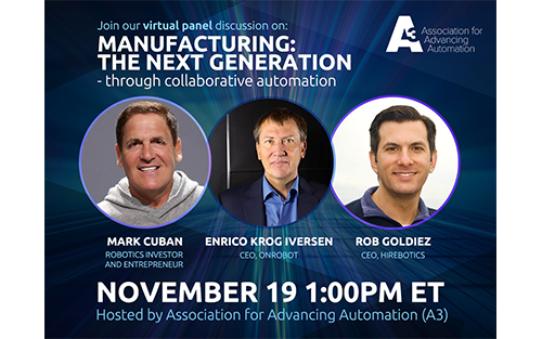 Entrepreneur Mark Cuban Joins OnRobot and Hirebotics CEOs to Discuss the Future of Manufacturing
