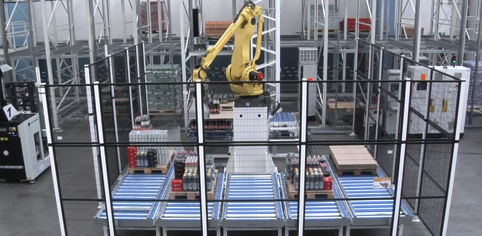 Fully automated Automatic Picking to Pallet System (APPS)