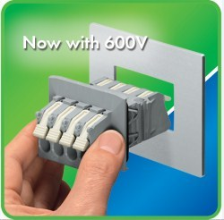 WAGO Panel Feedthrough Block Uprated to 600V