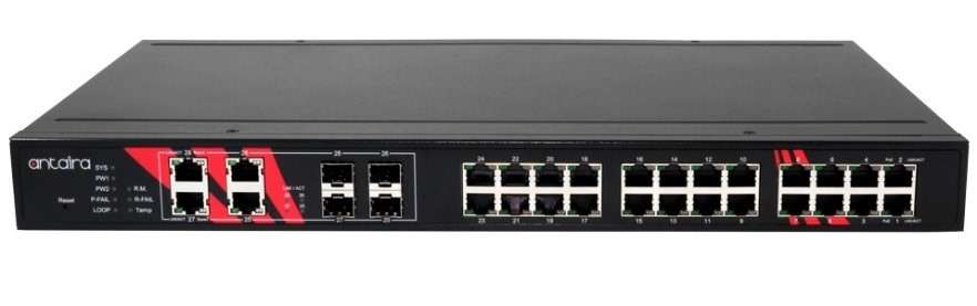 Antaira releases LNP-2804GN-SFP-T PoE+ managed Ethernet switch