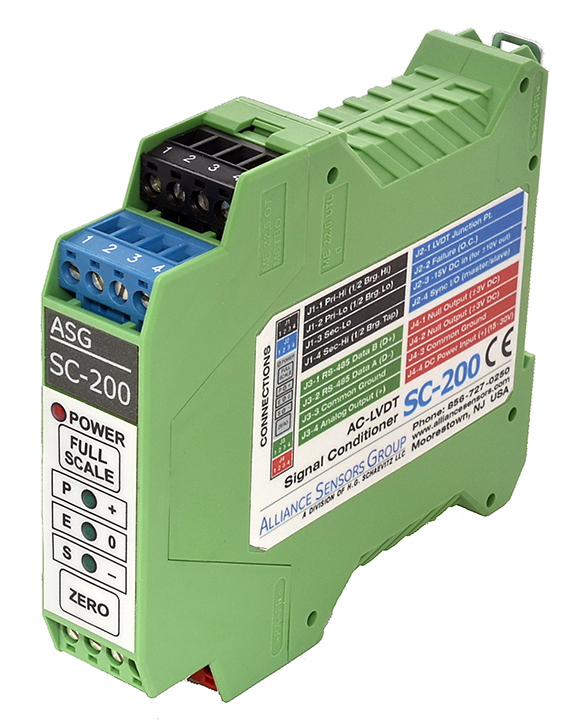 Alliance Sensors Group introduces SC-200 LVDT signal conditioner
