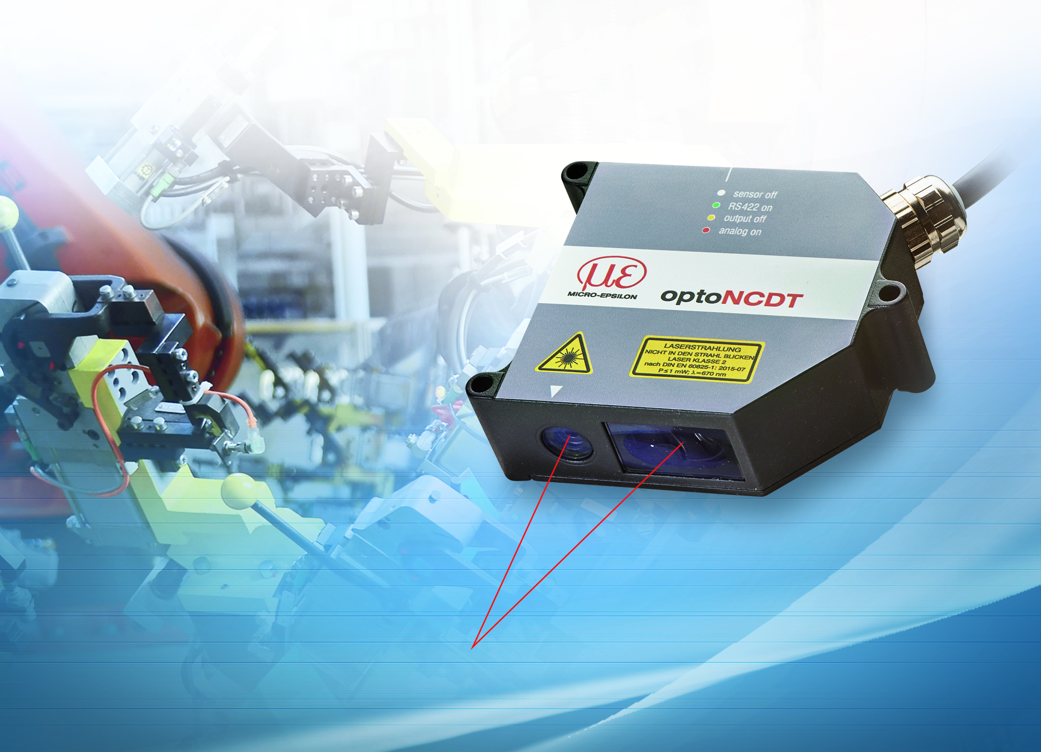 Micro-Epsilon releases optoNCDT 1750 laser sensor for industry & automation