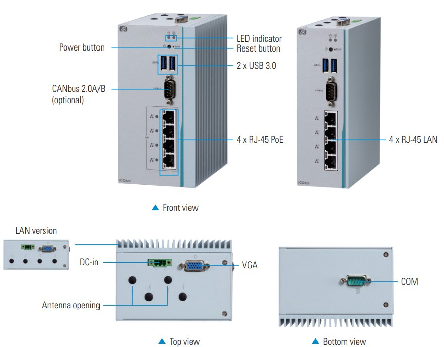 Axiomtek introduces ICO320-83C fanless DIN-rail embedded system