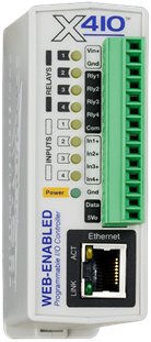 ControlByWeb introduces X-410 Ethernet I/O control module