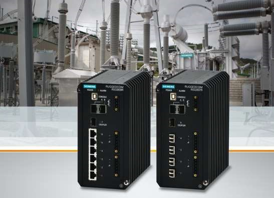 Siemens introduces Ruggedcom RSG907R and Ruggedcom RSG909R Gigabit IEEE 1588 compatible Ethernet switches