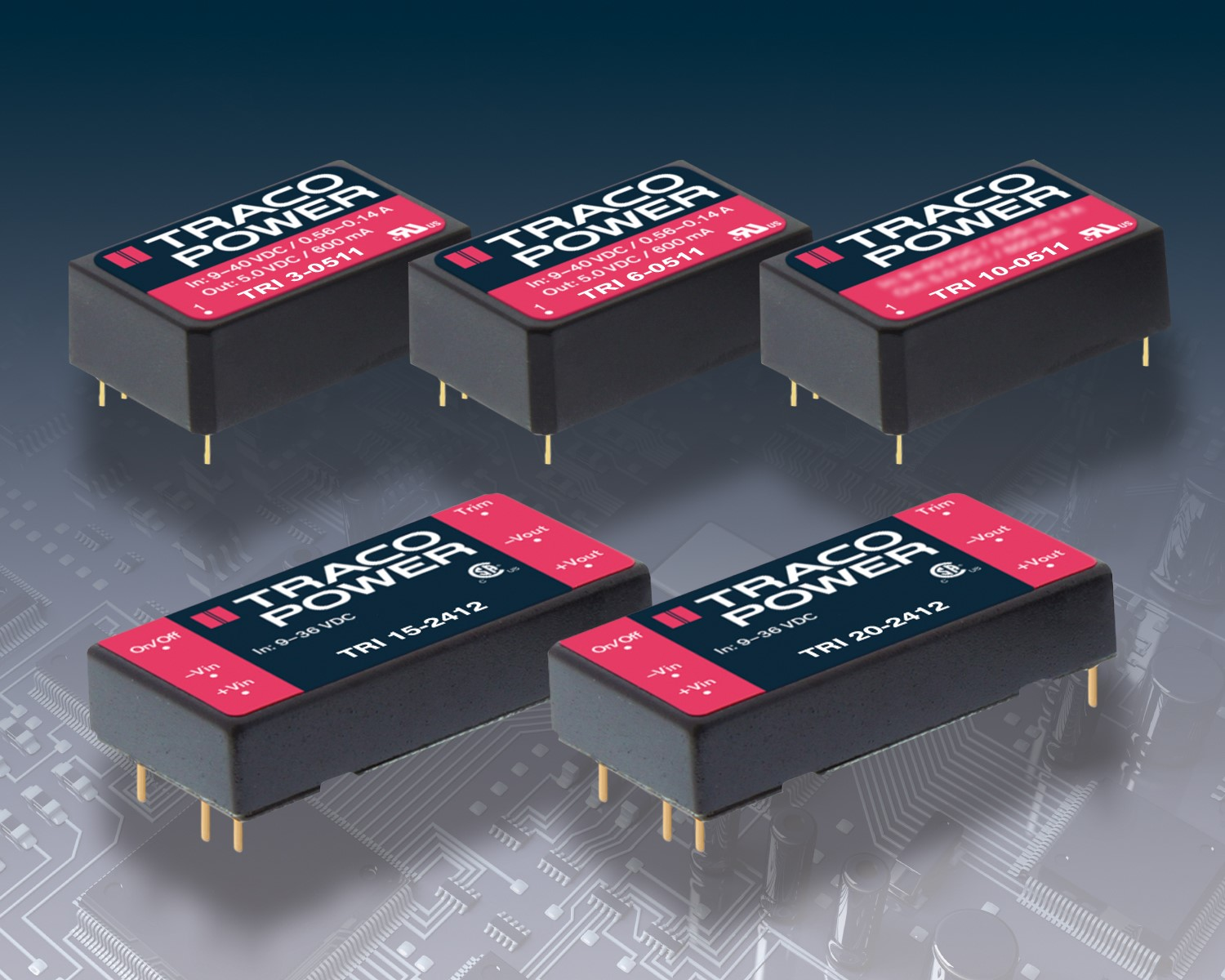 TRACO POWER releases TRI Series of DC/DC converters