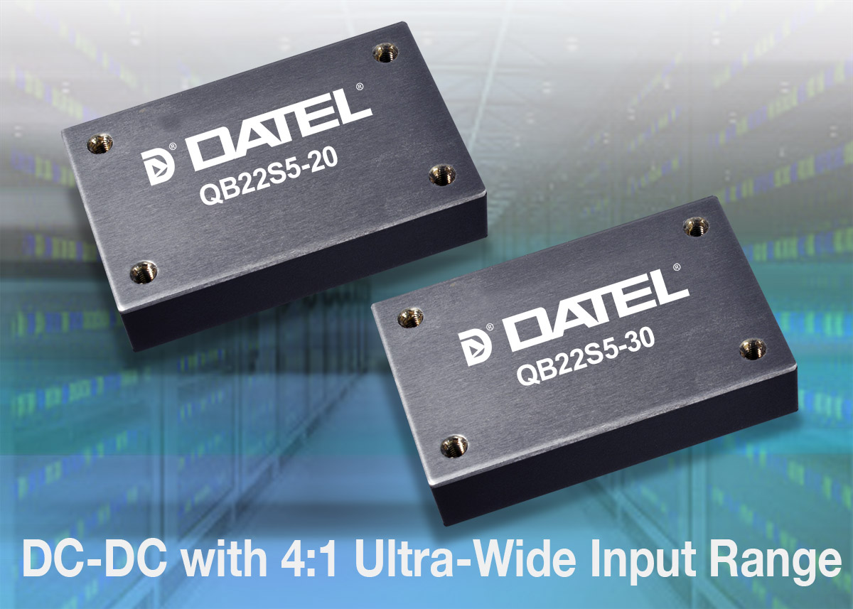 DATEL introduces QB line of DC-DC converters