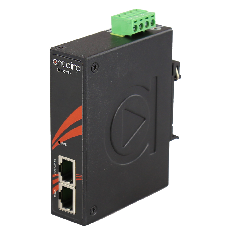 Antaira introduces INJ-0200G-60-24-T IEEE 802.3bt Type 3 Power over Ethernet (PoE) injector