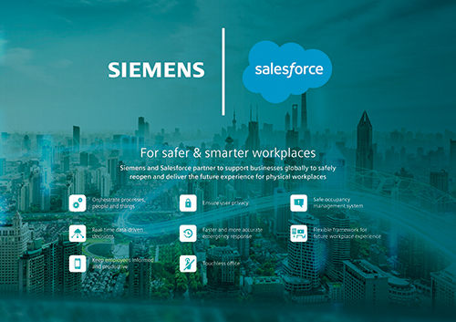 Siemens and Salesforce announce strategic partnership to enhance workplace safety
