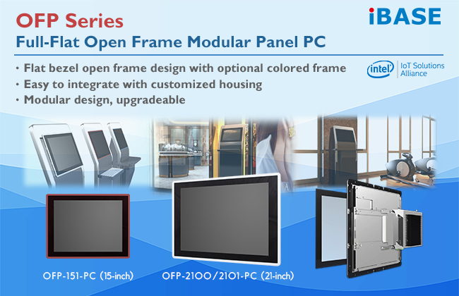 IBASE introduces OFP series open-frame panel PC