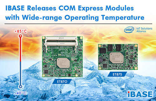 iBASE Technology introduces ET875 and ET870 COM Express Modules