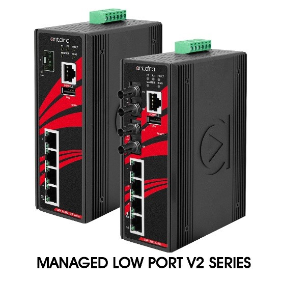 Antaira introduces managed low-port-count Version 2 (V2) hardware