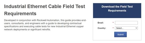 Rockwell Automation and Fluke Networks Launch New Industrial Ethernet Testing Guidelines