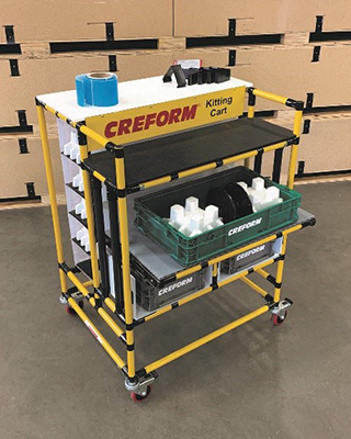 Creform announces a kitting cart for manufacturing assembly