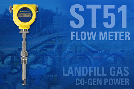 FCI announces enhanced ST51 series of thermal mass flow meters for landfill gas flow measurement
