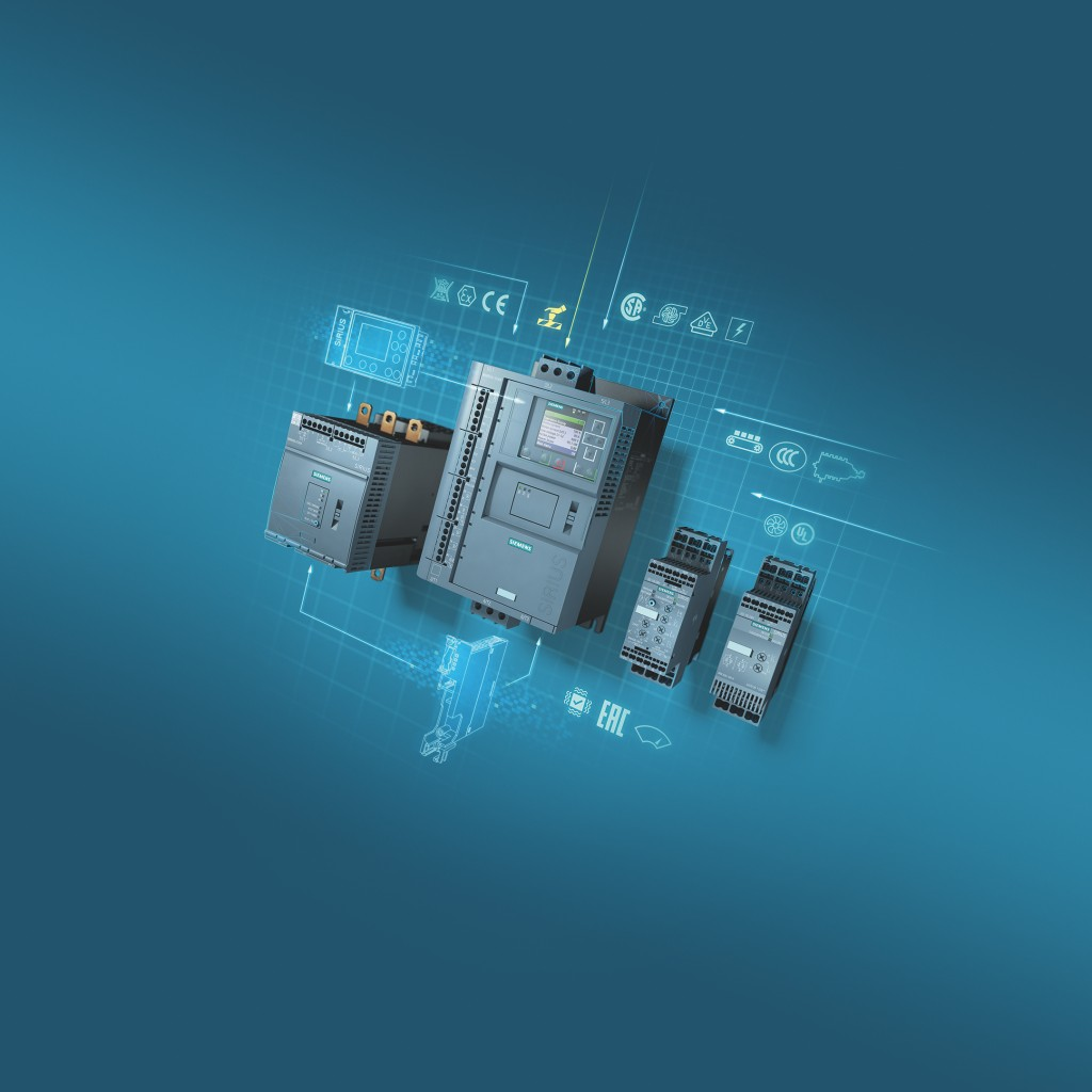 Siemens announces launch of Sirius 3RW55 Failsafe and Sirius 3RW50 soft starters