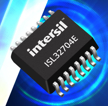 Intersil releases ISL32704E RS-485 transceiver