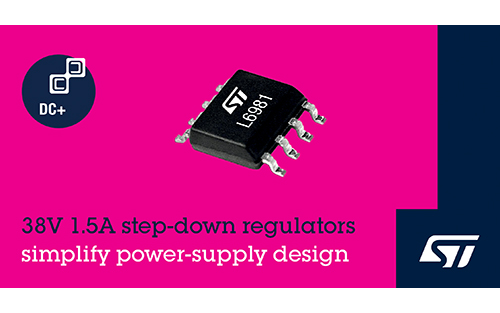STMicroelectronics' Integrated 1.5A Synchronous Regulators Simplify High-Efficiency Power Conversion