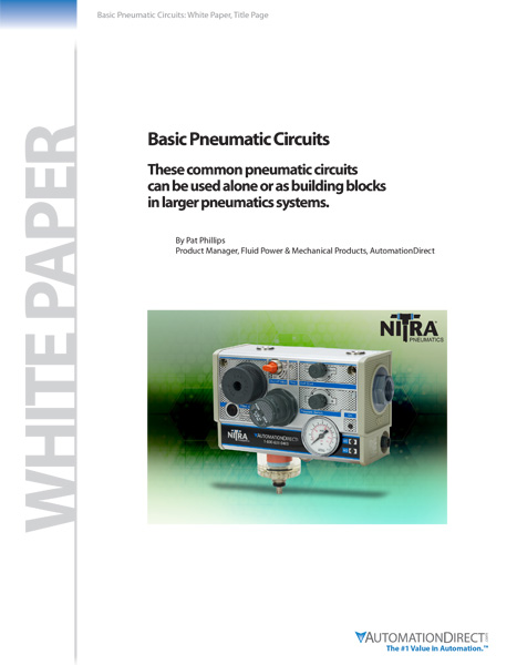 AutomationDirect releases Basic Pneumatic Circuits white paper