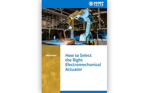 Electromechanical actuators (EMAs) are a more precise actuator option. Download our free white paper for selecting an EMA.
