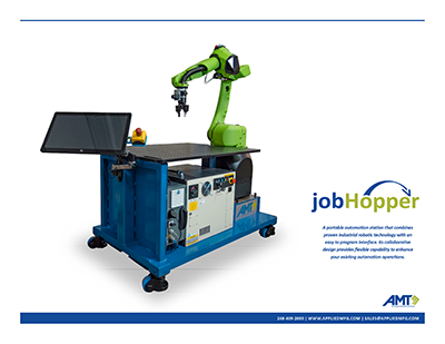 Applied Manufacturing Technologies introduces jobHopper collaborative robot workstation