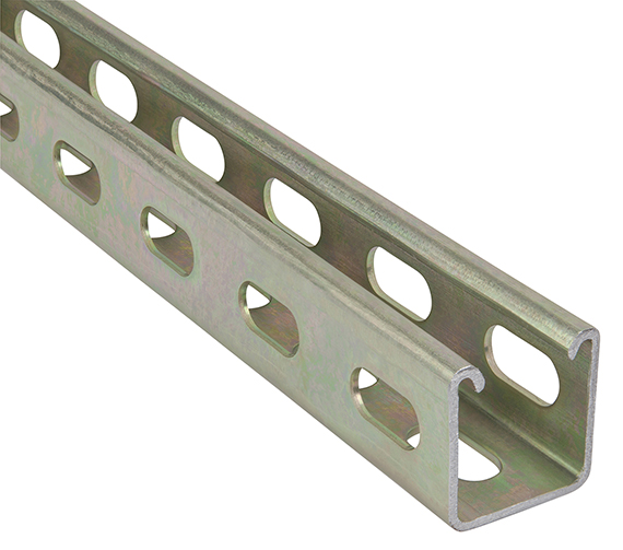 ABB introduces Superstrut metal framing with half-slot holes punched on three sides