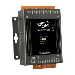 ICP DAS introduces PET-7H16M data acquisition module with built-in Ethernet communication port