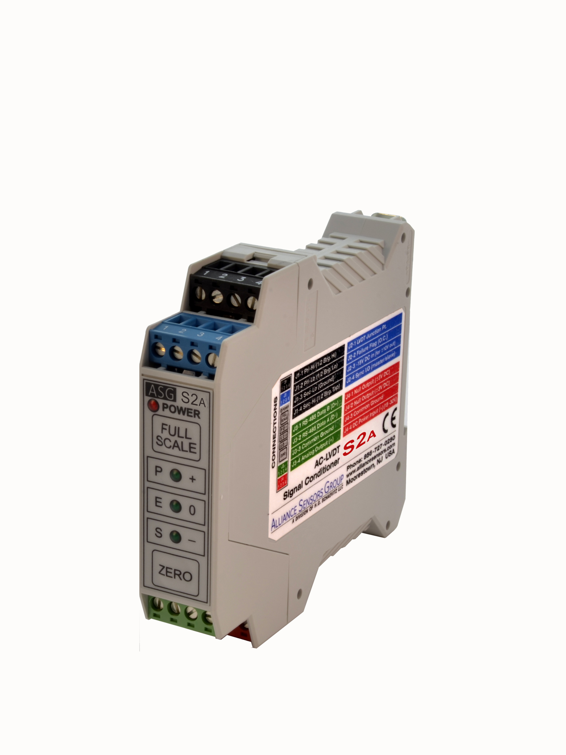 Alliance Sensors Group introduces S2A LVDT signal conditioner