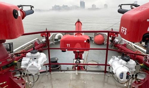 Rotork actuators enhance water flow for New York City fireboats