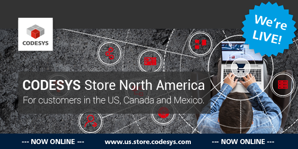 We are excited to announce the CODESYS Store North America IS LIVE!    Please visit the URL https://us.store.codesys.com.
