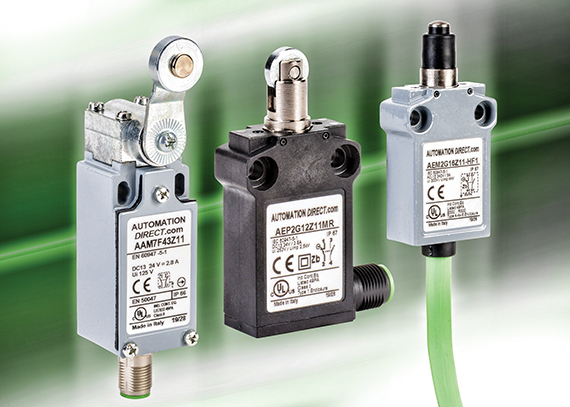 AutomationDirect introduces AEP series of thermoplastic compact limit switches